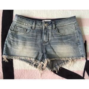 VS Pink Distressed Denim Jean Shorts